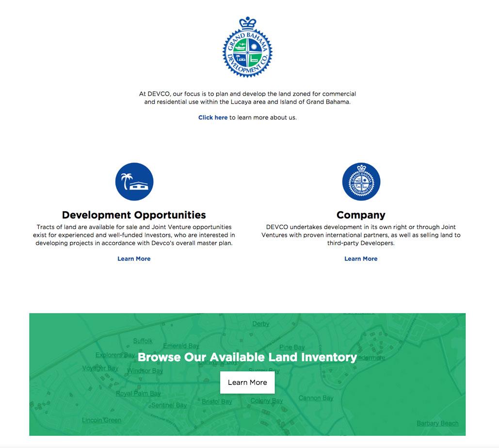 Grand Bahama Development Company Website
