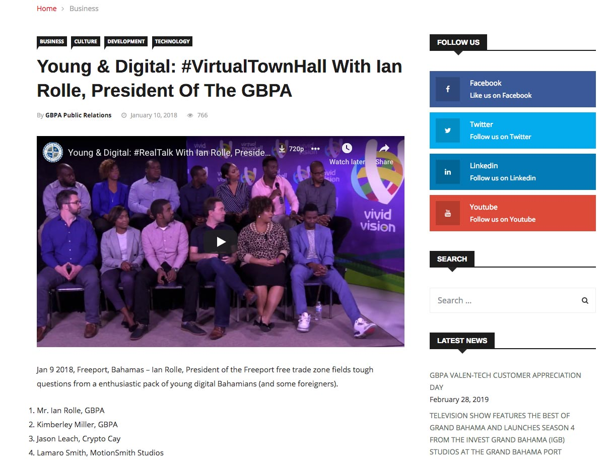 GBPA 24/7 Media Website Developed by Digital Media Visionary