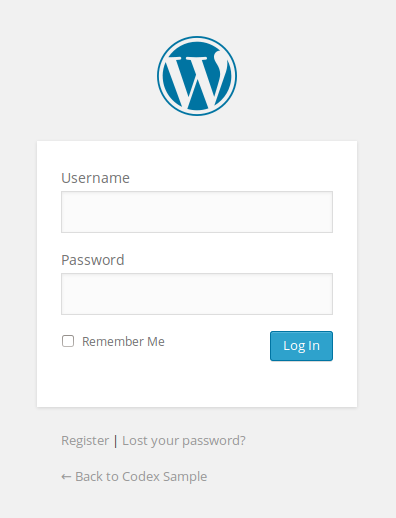 WordPress Default Admin Login
